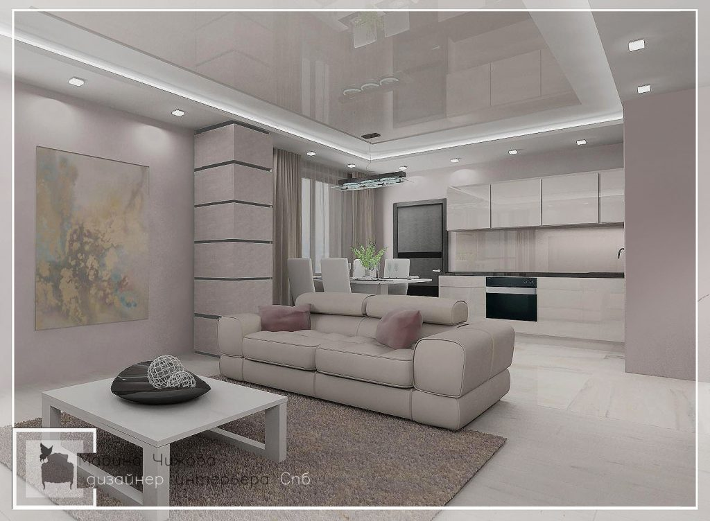 Дизайн гостиной прияная гамма